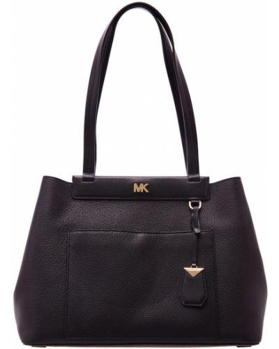 Кожаный сумка сумка-хобо среднего размера Michael Kors