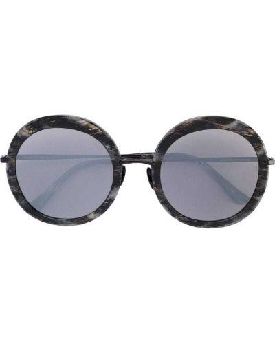 Черные солнцезащитные очки круглые металлические Sunday Somewhere