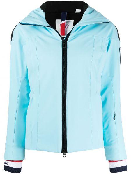 С рукавами синяя длинная куртка с карманами Rossignol