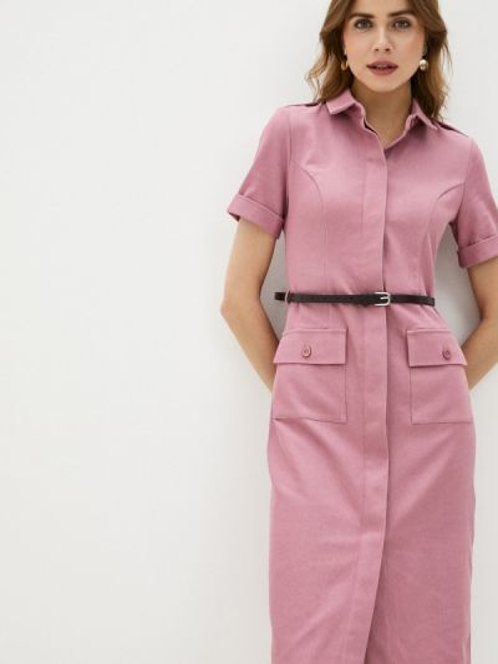 Весеннее розовое платье-рубашка платье Trendyangel
