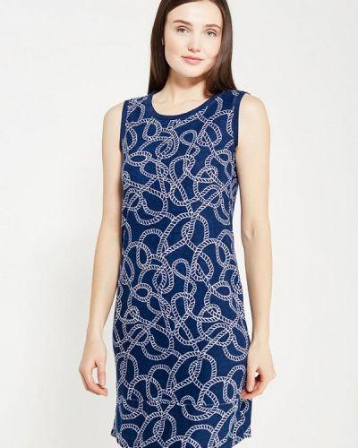 Прямое синее платье Relax Mode