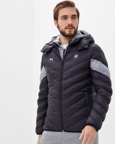 Теплая черная утепленная куртка Puma