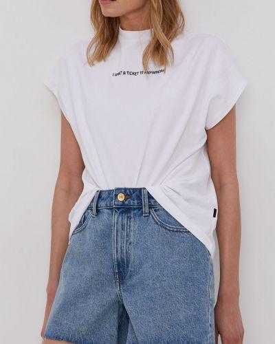 Niebieskie szorty jeansowe bawełniane casual Jacqueline De Yong