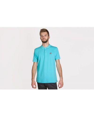 Niebieska koszulka bawełniana Fila