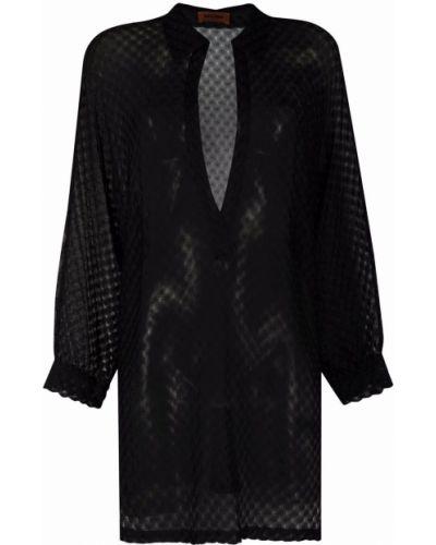 Платье макси с длинными рукавами - черное Missoni