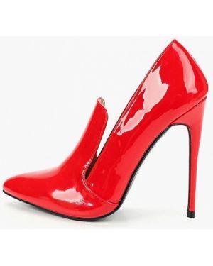 Кожаные туфли красные лодочки Lost Ink.
