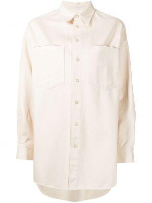 Biała koszula zapinane na guziki Ymc