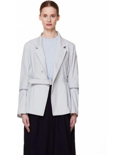 С рукавами серый приталенный пиджак Y`s