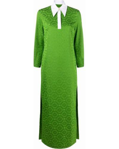 Платье макси длинное - зеленое Casablanca
