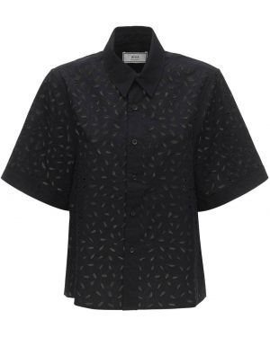 Классическая рубашка с воротником с лебяжьим пухом Ami Alexandre Mattiussi