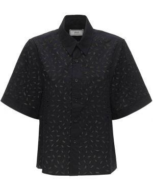 Рубашка с коротким рукавом - черная Ami Paris
