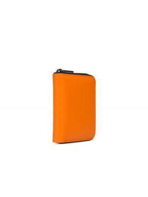 Pomarańczowy klasyczny portfel skórzany Camper