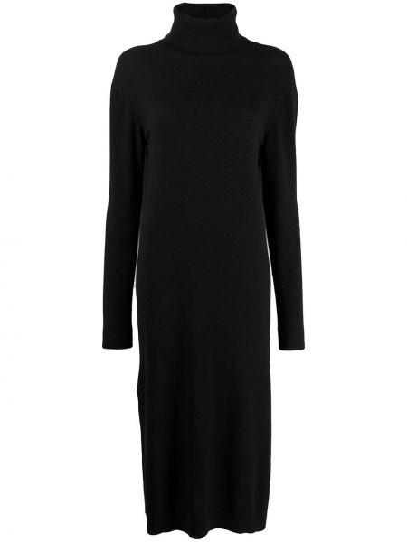 Зауженное платье миди - черное Pringle Of Scotland