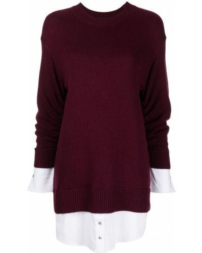 Шерстяное платье макси - фиолетовое Cinq À Sept