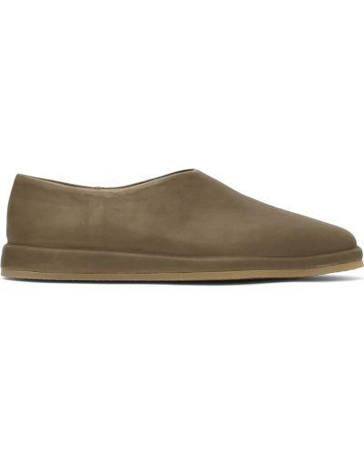 Loafers skorzane na obcasie khaki Fear Of God