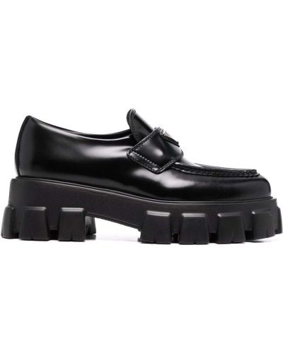 Loafers - czarne Prada