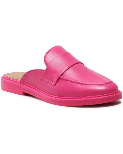 Różowe sandały skorzane Eva Minge