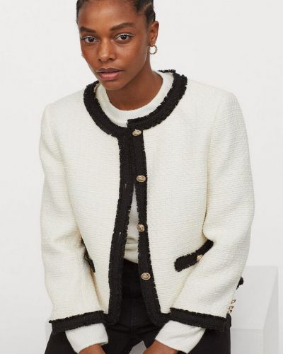 Шерстяной пиджак - белый H&m