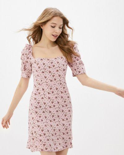 Прямое розовое платье А-силуэта Trendyangel