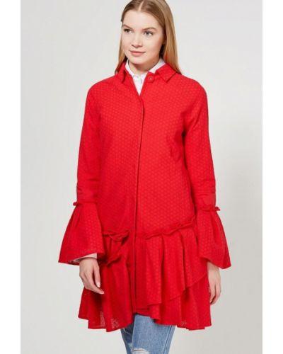 Красное пальто весеннее Lost Ink.