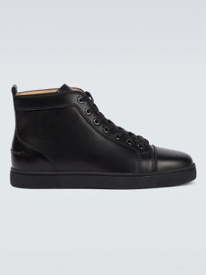 Czarne sneakersy skorzane Christian Louboutin