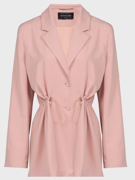 Розовый пиджак на пуговицах с подкладкой The Fifth Label