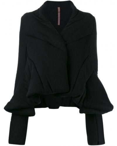 Прямая черная куртка Rick Owens Lilies