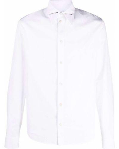 Biała koszula z długimi rękawami Bottega Veneta