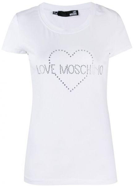 Топ белый футбольный Love Moschino