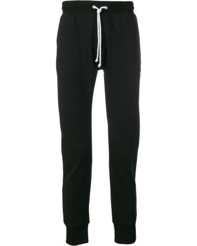 Черные спортивные брюки с поясом с манжетами Les (art)ists