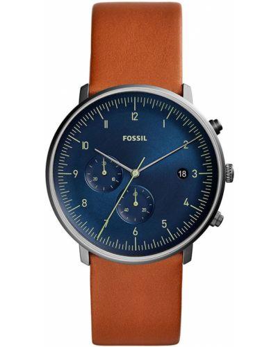 Часы водонепроницаемые универсальный коричневый Fossil