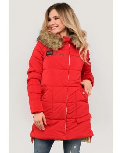 Утепленная куртка - красная Modniy Oazis