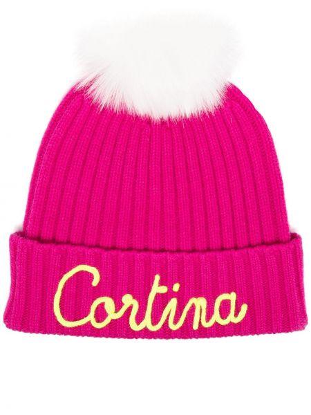 Шерстяная шапка бини - розовая Mc2 Saint Barth
