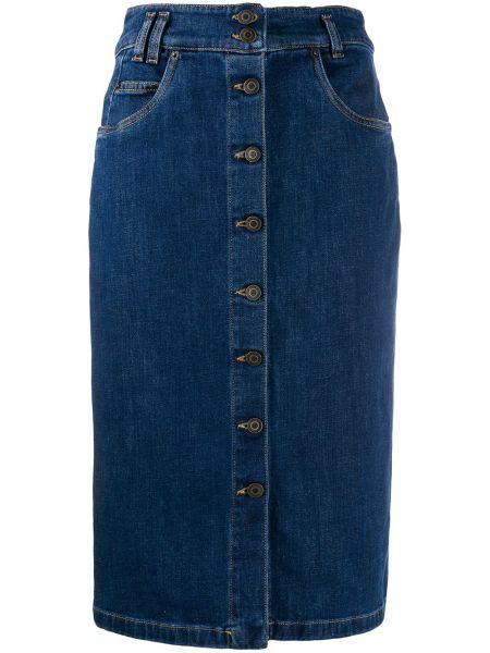 Юбка карандаш джинсовая с карманами Moschino