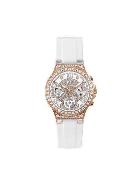 Biały zegarek Guess