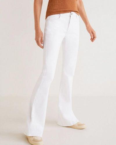 Широкие джинсы расклешенные белые Mango