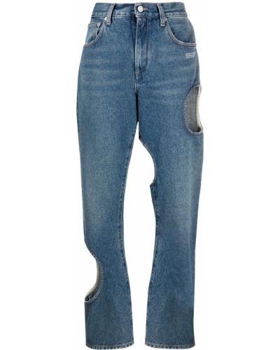 Прямые белые джинсы на молнии Off-white
