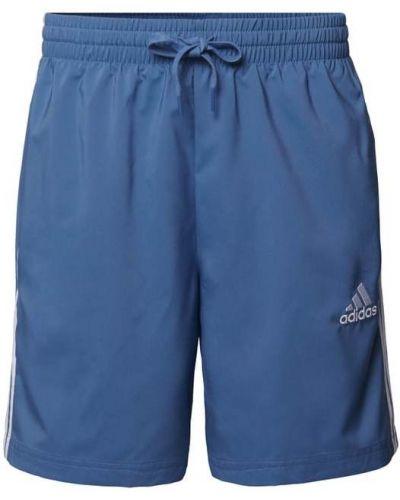 Niebieskie szorty w paski Adidas Performance