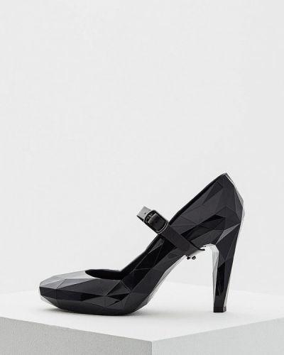 Черные кожаные туфли с застежкой на лодыжке United Nude