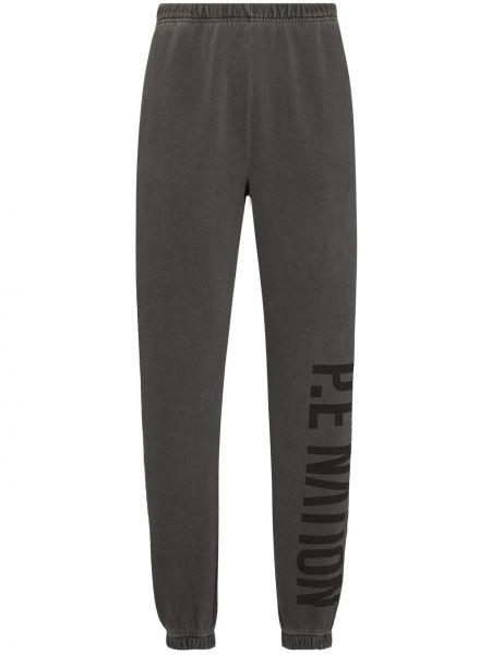 Серые брюки с поясом P.e Nation