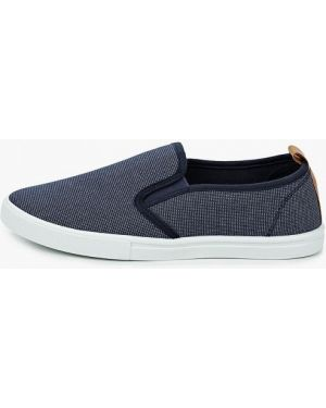 Слипоны синие текстильные Zenden First