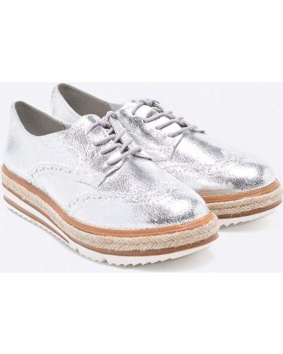 Туфли на танкетке на шнуровке на каблуке Tamaris