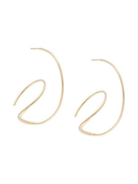 Złote kolczyki sztyfty pozłacane Bar Jewellery