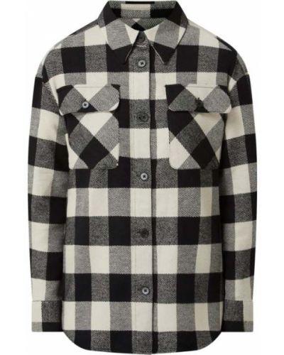 Bluzka koszulowa w kratę - czarna Opus