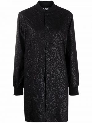 Черное длинное пальто с воротником на пуговицах Comme Des Garçons Comme Des Garçons