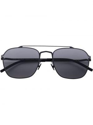 Массивные прямые черные солнцезащитные очки Mykita