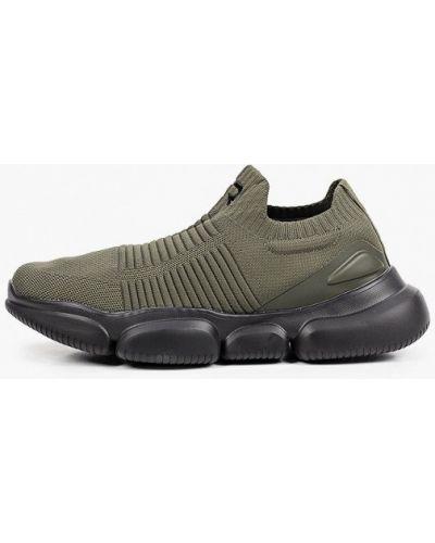 Текстильные зеленые кроссовки Crosby