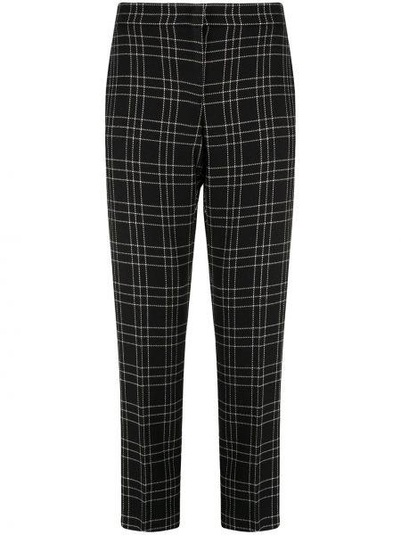 Брючные шерстяные черные укороченные брюки с карманами Alexander Mcqueen
