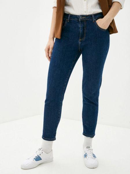 Синие джинсы-скинни с пайетками Miss Bon Bon