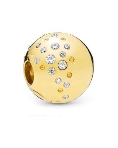 Золотой браслет золотой с камнями металлический Pandora